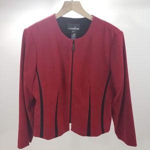 Positive Attitude Womens Zipper Front Blazer 14P